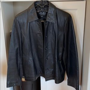 Jackets & Blazers - Women's genuine leather jacket size M